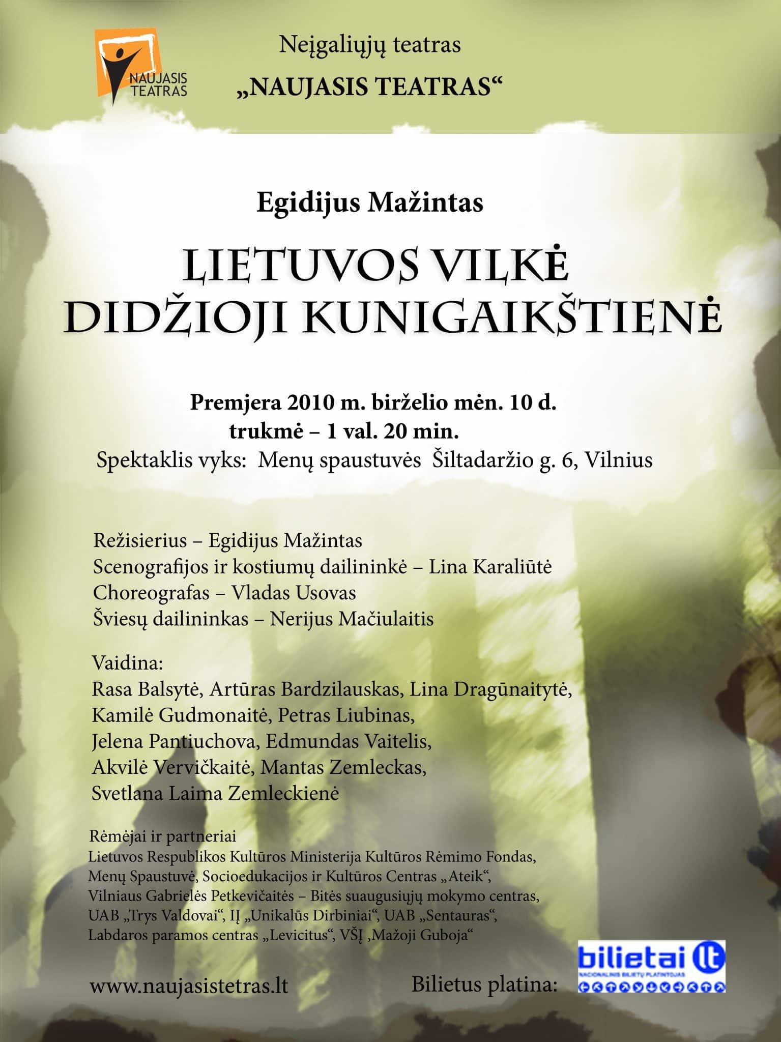 Lietuvos vilke - Didzioji Kunigaikstiene - plakatas